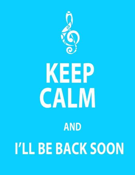 KEEP CALM ILL BE BACK